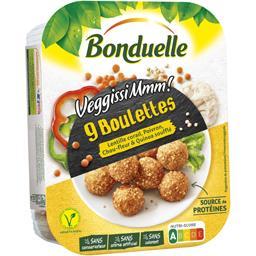 Boulettes lentilles corail poivron chou-fleur quinoa soufflé