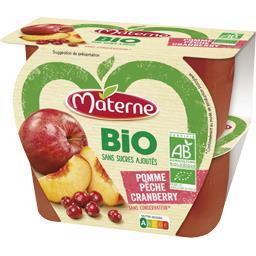 BIO - Spécialité de fruits pomme pêche Cranberry BIO