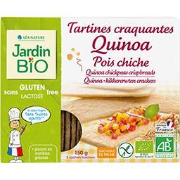 Tartines craquantes quinoa pois chiche BIO