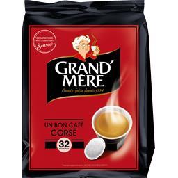 Dosettes de café moulu Corsé