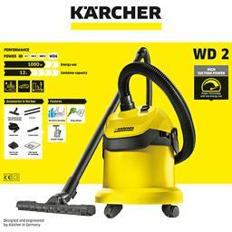 Aspirateur WD 2200 KARCHER : l'aspirateur et ses accessoires