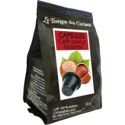 Capsules de café saveur noisette