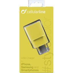 Chargeur secteur USB 1A jaune