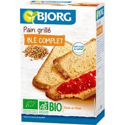 Pain grillé blé complet BIO