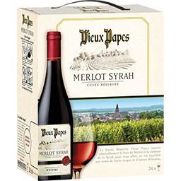 Vin de pays Merlot Syrah 'Cuvée Réservée', vin rouge