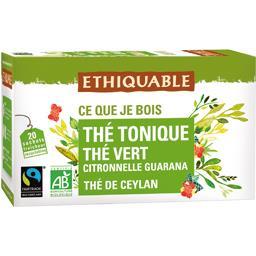 Ethiquable Thé tonique, thé vert, citronnelle, guarana