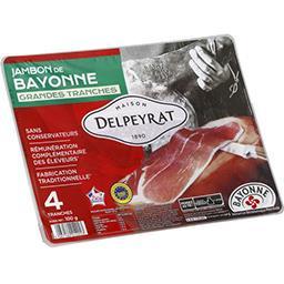 Jambon de Bayonne,DELPEYRAT TRAITEUR,le paquet de 4 tranches - 100 g