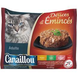 Délices d'Emincés viandes et saumon pour chat adulte