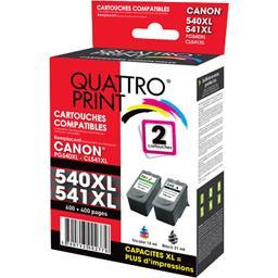 Pack cartouches encre compatibles Canon PG-540 XL/CL...