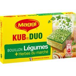 Bouillon Kub Duo légumes et herbes du marché