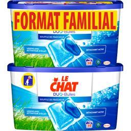 Le Chat Lessive Duo-Bulles Souffle de Fraîcheur les 2 boites de 30 doses - 1500 g -