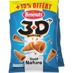 3D Bugles - Biscuits apéritifs goût nature