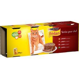 Terrines poulet/bœuf/veau/lapin/légumes pour chats