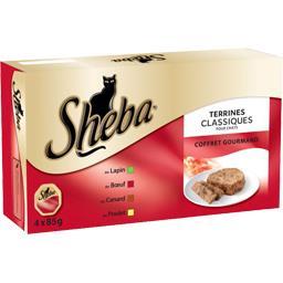 Terrines classiques Coffret Gourmand pour chats, 4 variétés