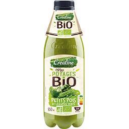 Créaline Mes Potages BIO - Potage petits pois et légumes vert... la bouteille de 950 ml