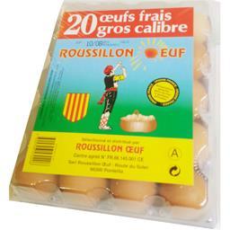 Gros œufs frais