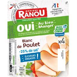 Monique Ranou Blanc de poulet la barquette de 160 g