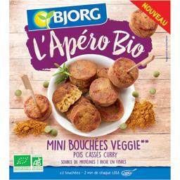 L'Apéro BIO - Mini bouchées Veggie pois cassés curry BIO