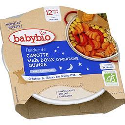 Fondue de carotte maïs doux d'Aquitaine quinoa BIO, ...