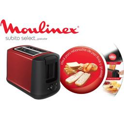 Grille-pain Subito Select, rouge