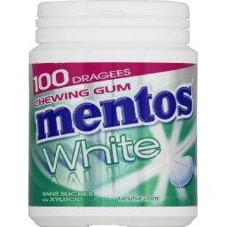 Chewing-gum White menthe verte sans sucres