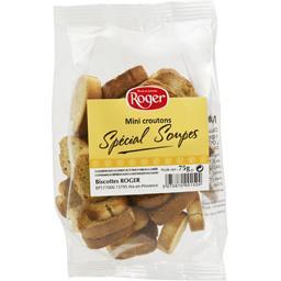 Roger Mini croûtons spécial soupes le paquet de 75 g