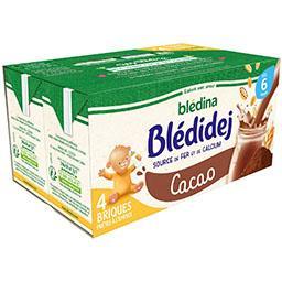 Blédidej - Céréales au lait de suite cacao, dès 6 mo...