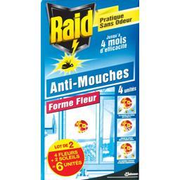 Sticker vitre anti-mouches forme fleur et soleil