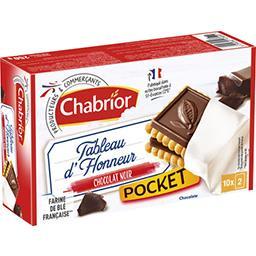 Chabrior Biscuits Tableau d'Honneur Pocket chocolat noir le paquet de 20 - 250 g