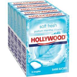 Chewing-gum SoftFresh parfum menthe douce sans sucres, les 5 boites de 14,HOLLYWOOD,les 5 boites de 14,5g