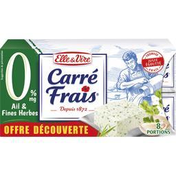 Carré frais Fromage Carré Frais 0% MG ail & fines herbes les 8 portions de 25 g
