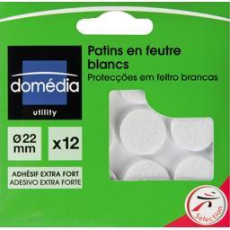 Patins en feutre blancs diamètre 22mm