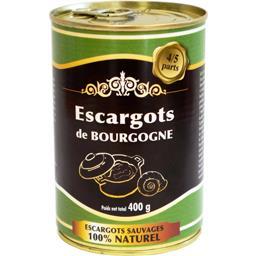 Escargots de bourgogne la boite de 225 g net égoutté