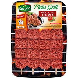 Plein Grill - Brochettes bœuf haché Tex-mex