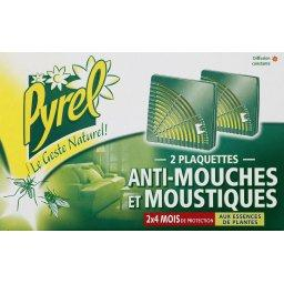 Plaquettes anti-mouches et moustiques, 2 x 4 mois de...