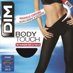 Body touch - collant opaque noir taille 3