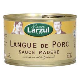 Langue de porc sauce Madère cuisinée au sel de Guérande