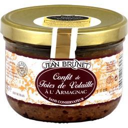 Confit de foies de volaille à l'Armagnac