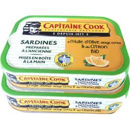Sardines à l'huile d'olive vierge extra & citron BIO