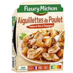 Aiguillettes de poulet pommes de terre & champignons