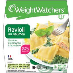 Ravioli au saumon fondue d'épinards à la crème 8pp