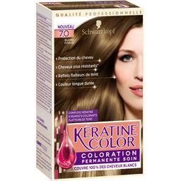 Coloration 7,0 blond foncé - Kératine Color