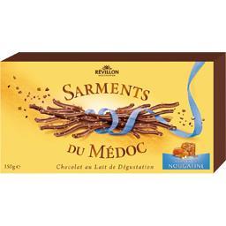 Révillon chocolatier Sarments du médoc chocolat au lait craquants de nougatine