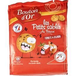 Bouton d'Or Les Petits Sablés au beurre tomate & oignon les 2 paquets de 120 g