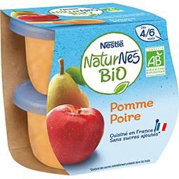 Dessert pomme poire BIO, dès 4/6 mois