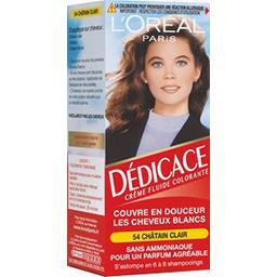 Dédicace 54, crème fluide colorante châtain clair, s...