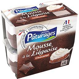 Mousse à la Liégeoise chocolat
