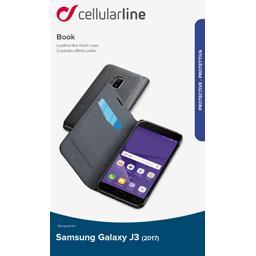Etui rabat portefeuille noir pour Samsung Galaxy J3