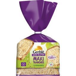 Sans Gluten - Maxi tranches 3 graines