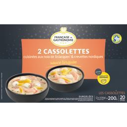 Cassolettes noix de Saint-Jacques & crevettes sauce ...